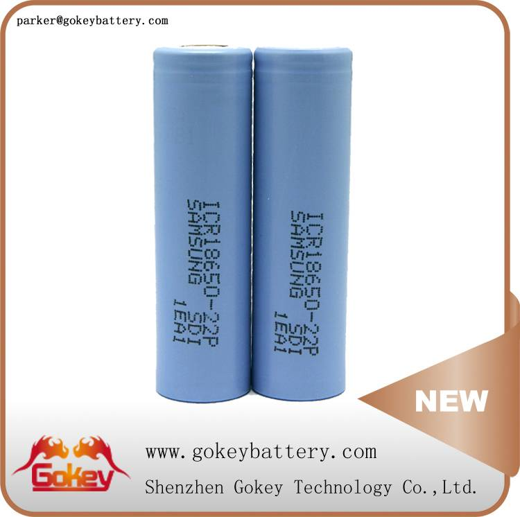 Samsung 22P 2200mah 3.7v 10A LI-ION 18650 battery in battery store
