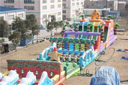 giant adults inflatable obstacle course inflatable sports