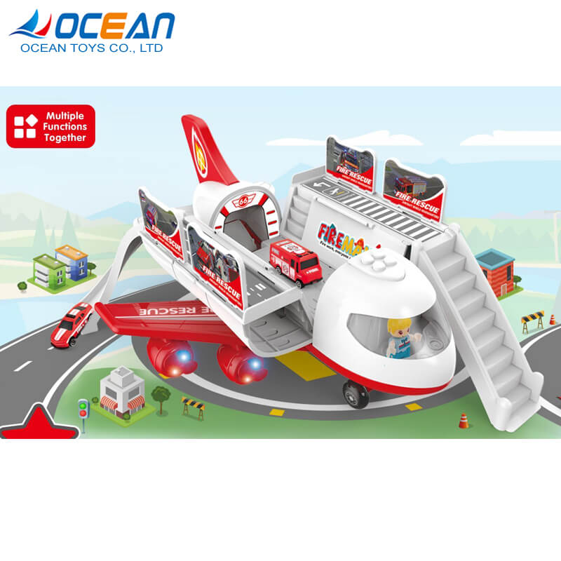 Multifunctional storage 2ch plastic kids electric toy rc plane with light music