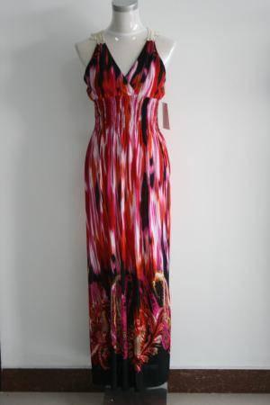 Hot Selling New Fashion Beautiful Prom Dress Stripe Waistcoat Party Maxi Dress