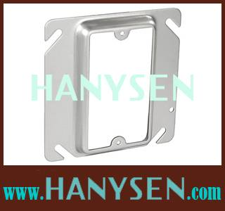 """Raised 4""""Square one Gang device ring cover"""