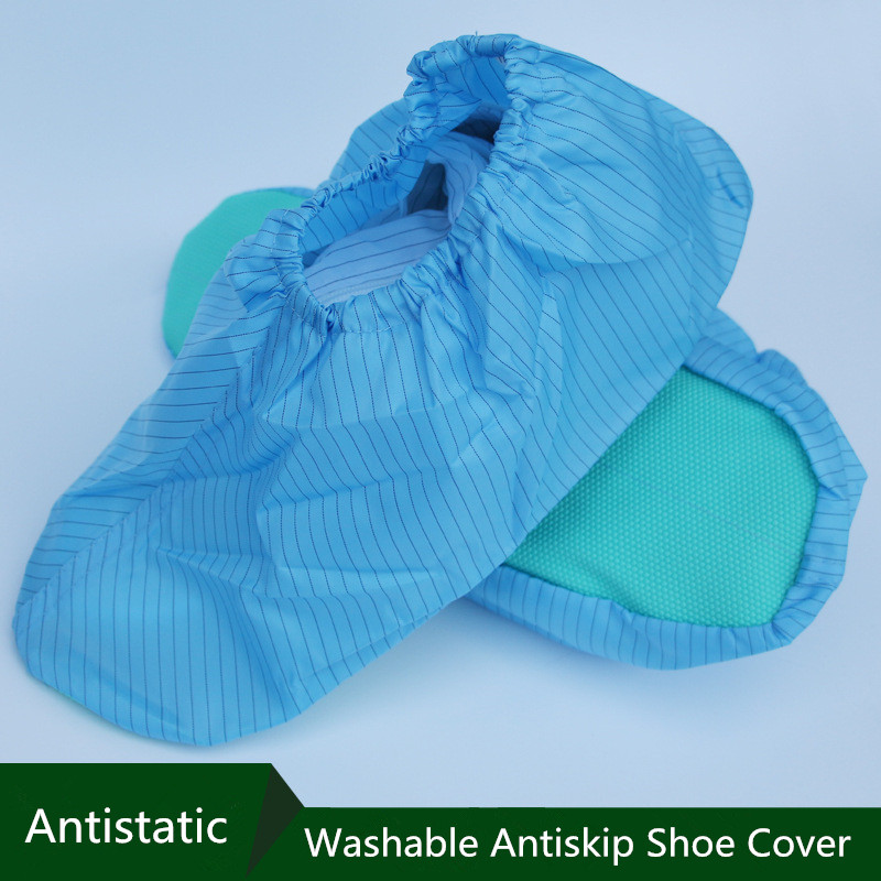 ESD Shoe Covers Washable Antislip Shoe Covers Cleanroom Boot Covers