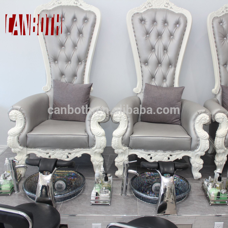 Royal cheap salon pedicure chair furniture set with ceramic pedicure sink CB-FP003