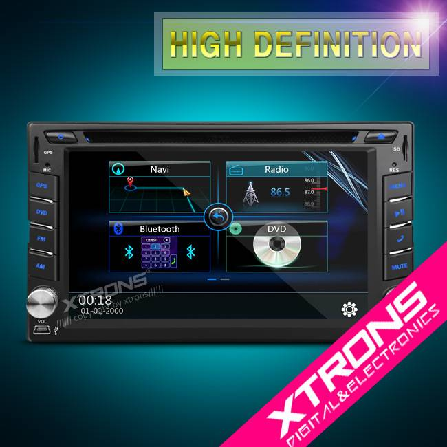 "Xtrons-6.2""1080P Video Double Din DVD Player GPS Navigator"