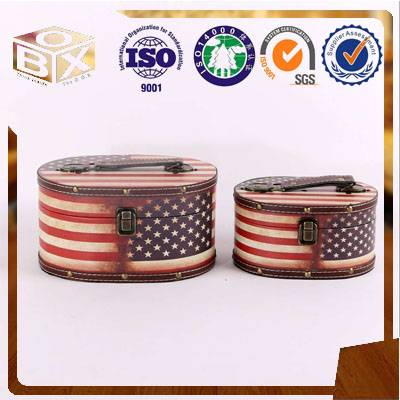 Round PU leather for home storage box