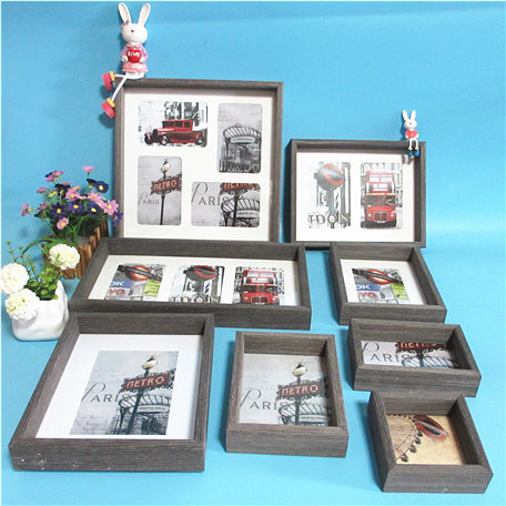 black best selling collage box photo frame, tabletop and wall deco