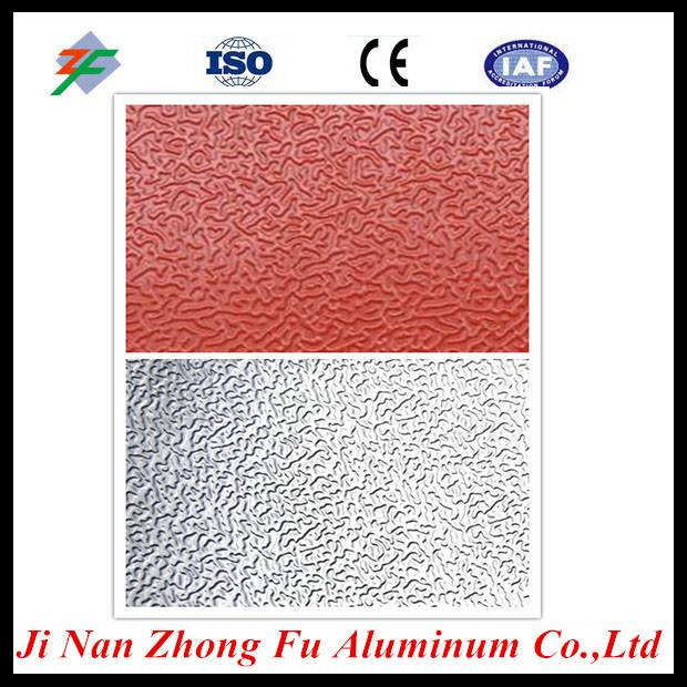 Mill Finish Orange Peel Aluminum Sheet For Refrigerator and Freezer