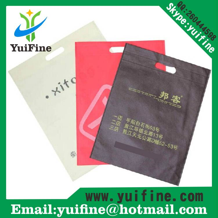 Punching Nonwoven Bag Non Woven Fabric Bag Reusable Cloth Bag  Advertising Bag Customized Flat Logo