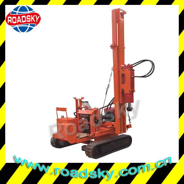 Hydraulic Road Safety Crawler Pile Driver