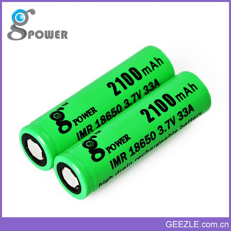 Professional product line rechargeable li ion battery 2100mAh 33A