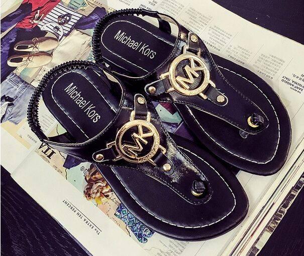 Size 35 to 39 Custom Size Flip Flop Women Sandal PU Leather Lady Sandal Mk Sandal