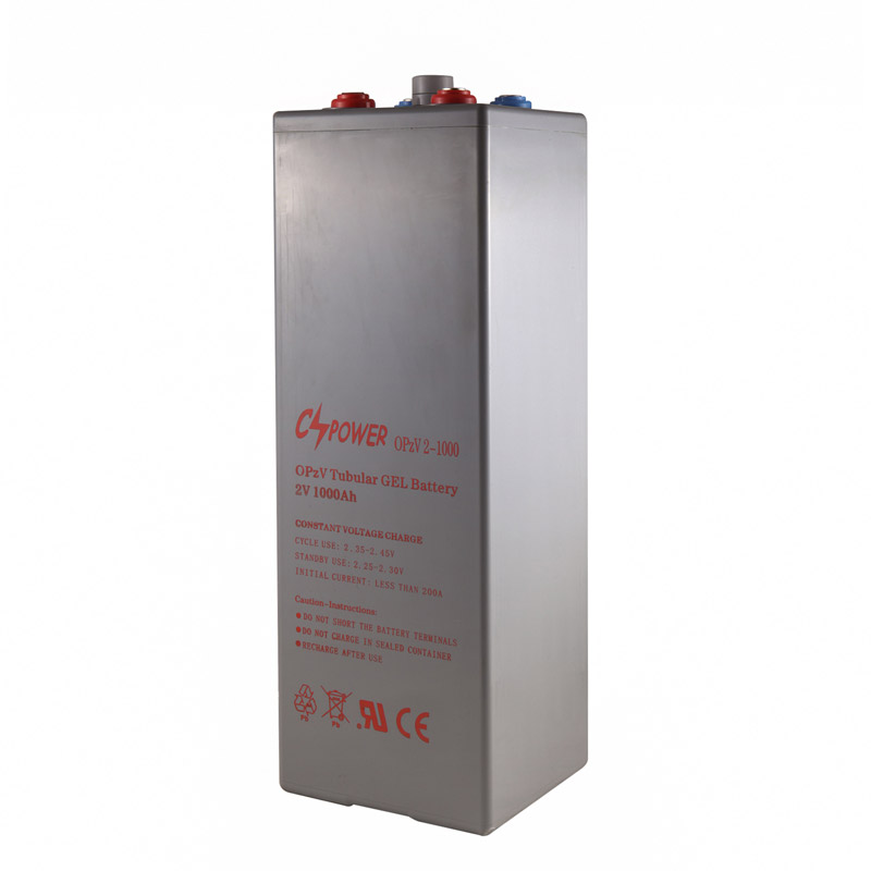 OpzV2-1000 1000ah 2V Tubular Plate Gel Deep Cycle Opzv Batteries