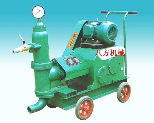 Single cylinder piston grouting pump