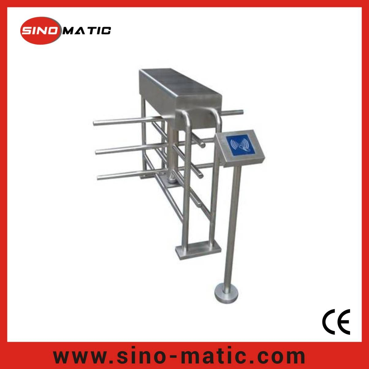 316 Stainless Steel Security Pedestrian Access Control Half Height Turnstile