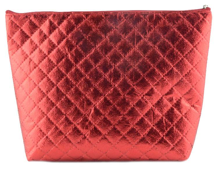 2016 new style Ultrasonic Nonwoven handbag style red cosmetic bag for ladies