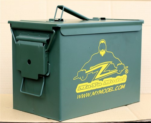 PA108 Military Army Spec Fat. 50 Caliber Ammo Box, Ammunition Can, Steel Construction Small Arms Box