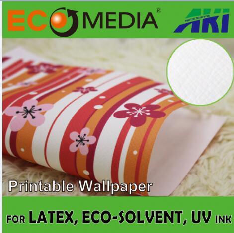 AKI 019 oblique-cross texture Non-woven DIY solvent printing indoor wallpaper, mural