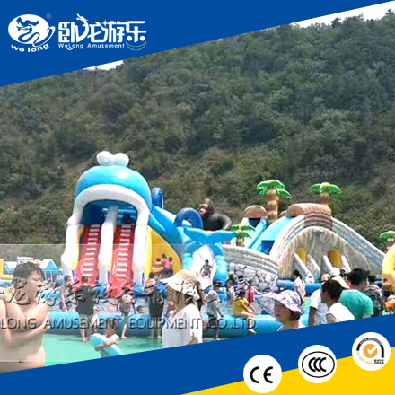 commercial adult inflatable floating water park for summer