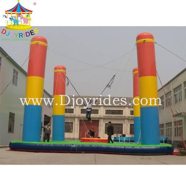 Outdoor Game 4 Pillar Inflatable Bungee Jump