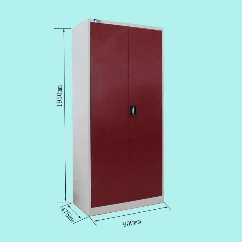 double door almirah red clothes wardrobe