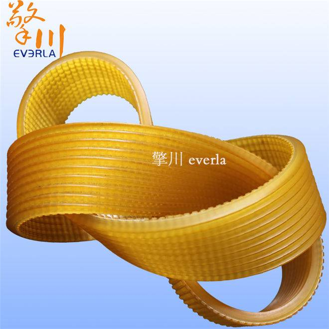 Translucent PU v-ribbed belt PU more groove with tractor transmission belt belt custom wire and cabl