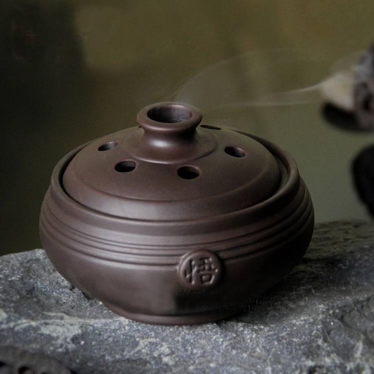 Chinese Ceramic WU Incense Burner Sandalwood Incense Censer Enlightenment Stove Coil Furnace Home De