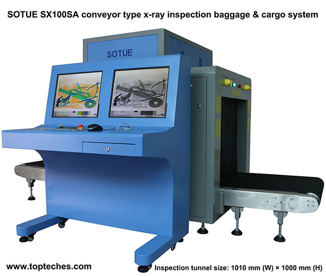 Big tunnel type x-ray inspection system, air cargo scanner, luggage x-ray machine