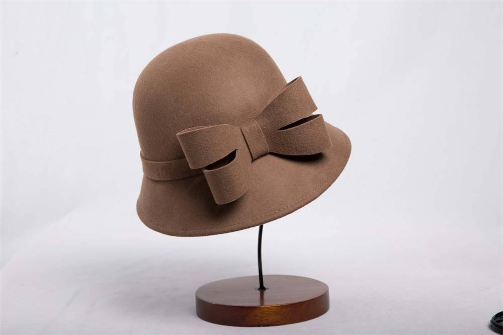 Wool Felt Bucket Hat For Woman (FW020042)