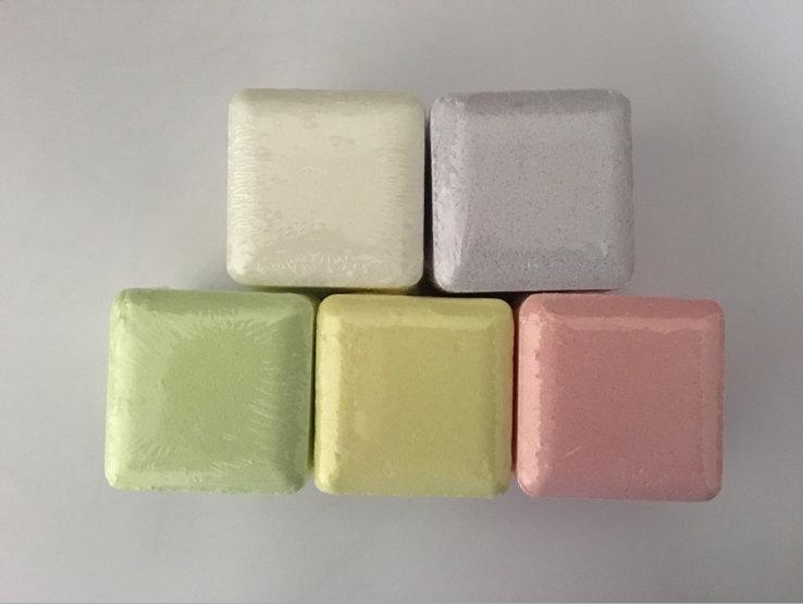 60g Square Shape Bath Fizzy Bubble Spa Bath Salt Bombs