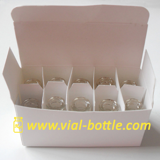 blank box with divider for 10 units 2ml/3ml vial hgh or other use