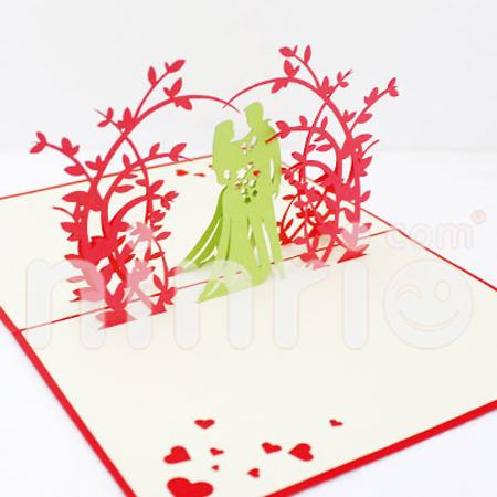 Sweet wedding Pop Up Card Handmade Greeting Card