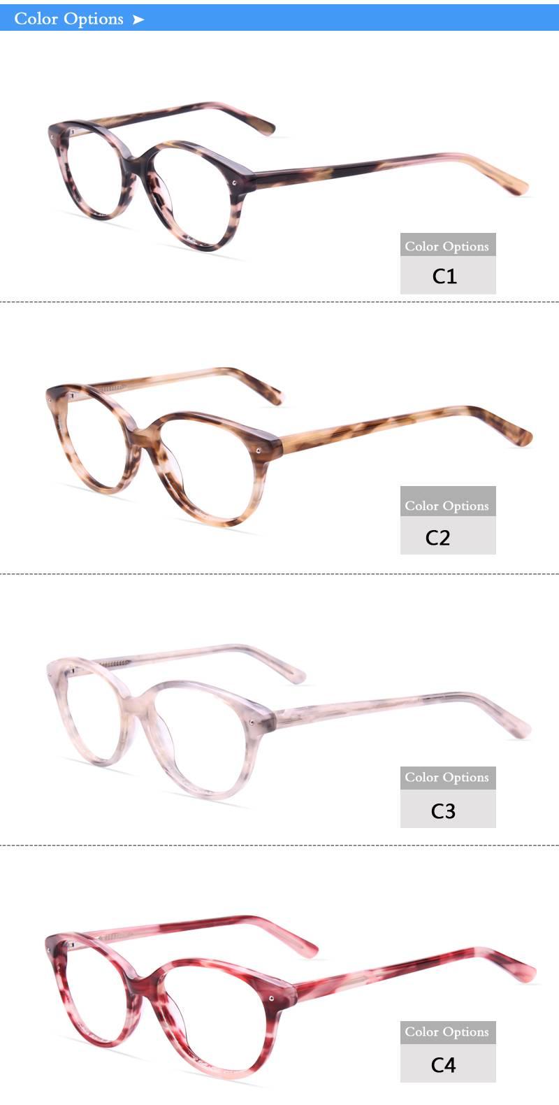 Fashion design acetate eyeglass optical frame JC9017 ready in stock
