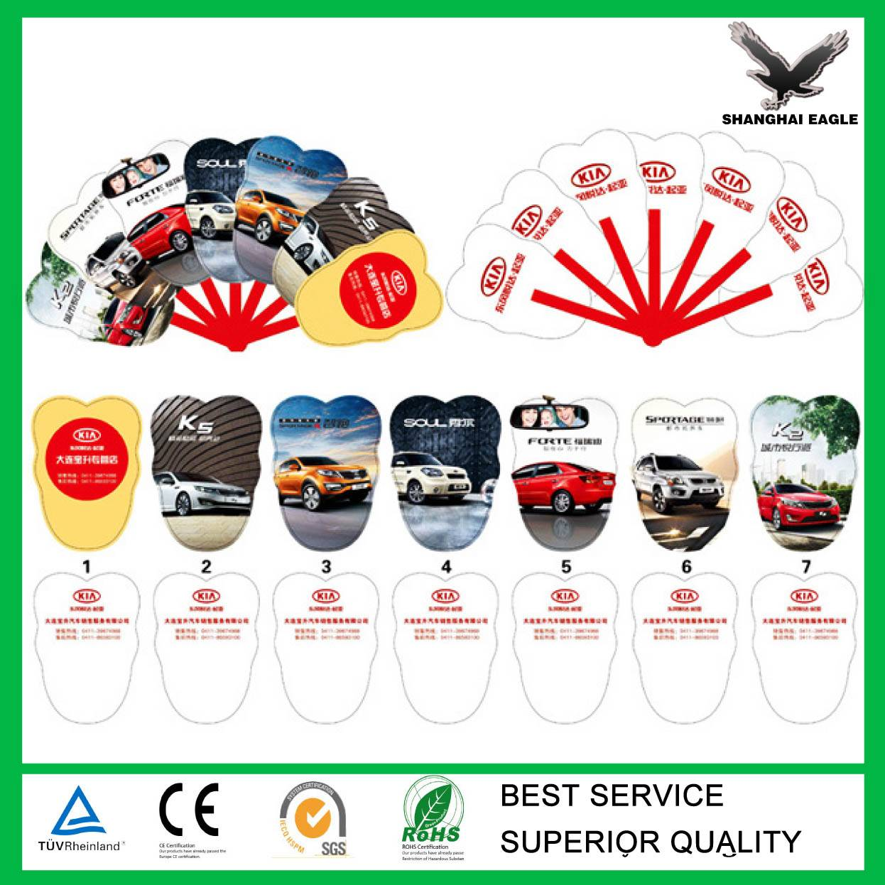 Plastic fabric folding fans wholesale (directly from factory)