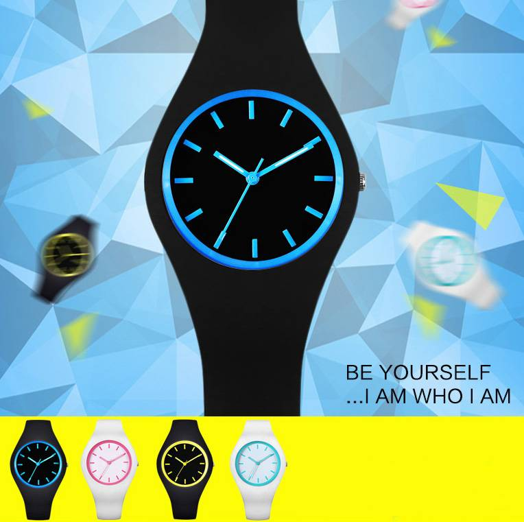 luminous silincone fashion cool design  Electron Watches