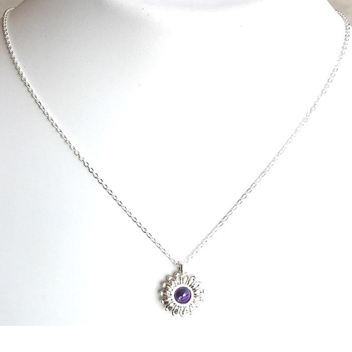 designer silver pendant set