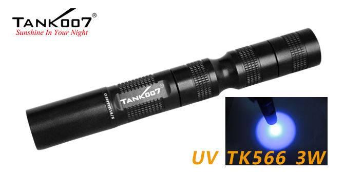 UV LED flashlight UVTK566-365nm/3w