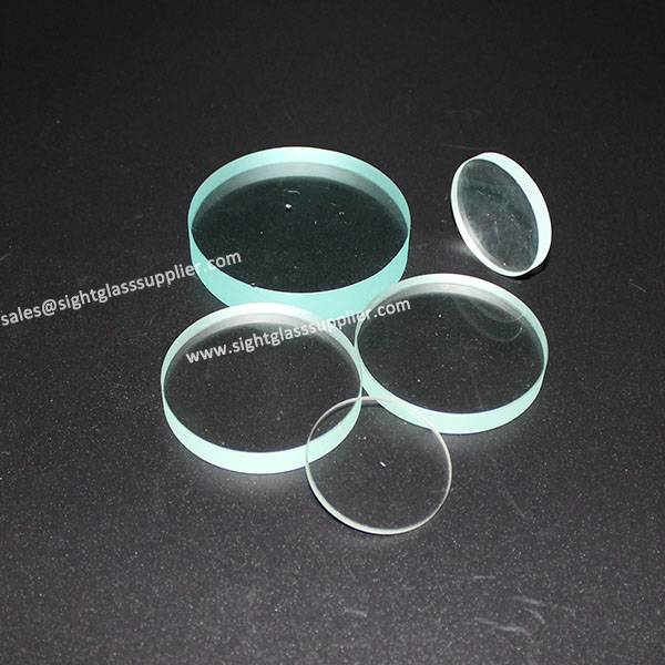 Heat Resistance Clear Circle Fused Quartz Glass Piece