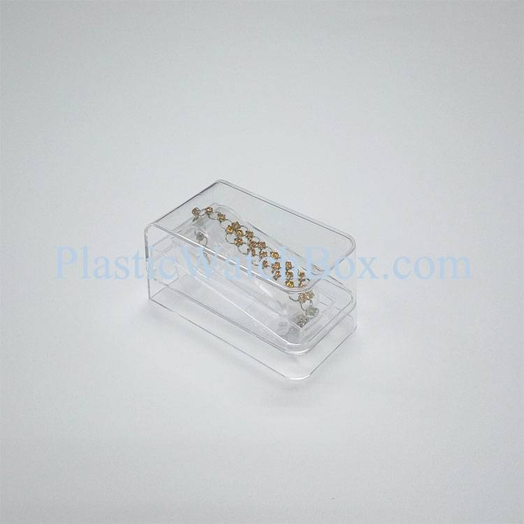Hard Covered Clear Plastic Jewelry Display Boxes OEM Custom Printed Packaging Wholesale