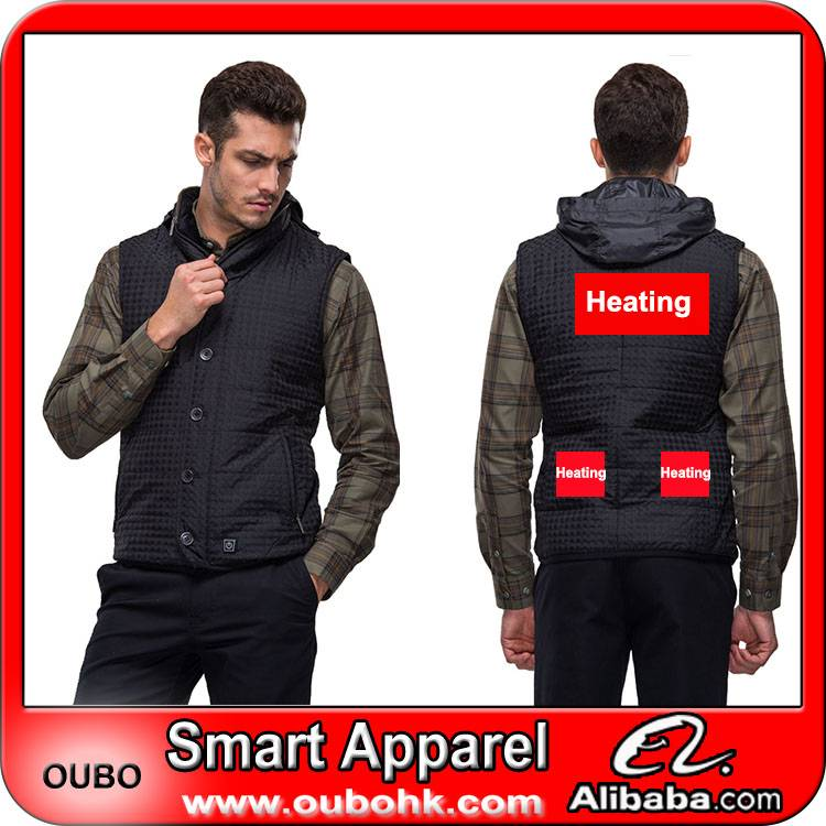 Vest, men vest, waistcoat, men waistcoat with battery system electric heating clothing warm OUBOHK