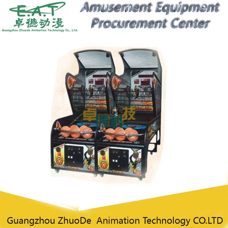 Street Basketball Arcade Game Machine, Coin Operated Basketball Games Basketball Amusement Machine