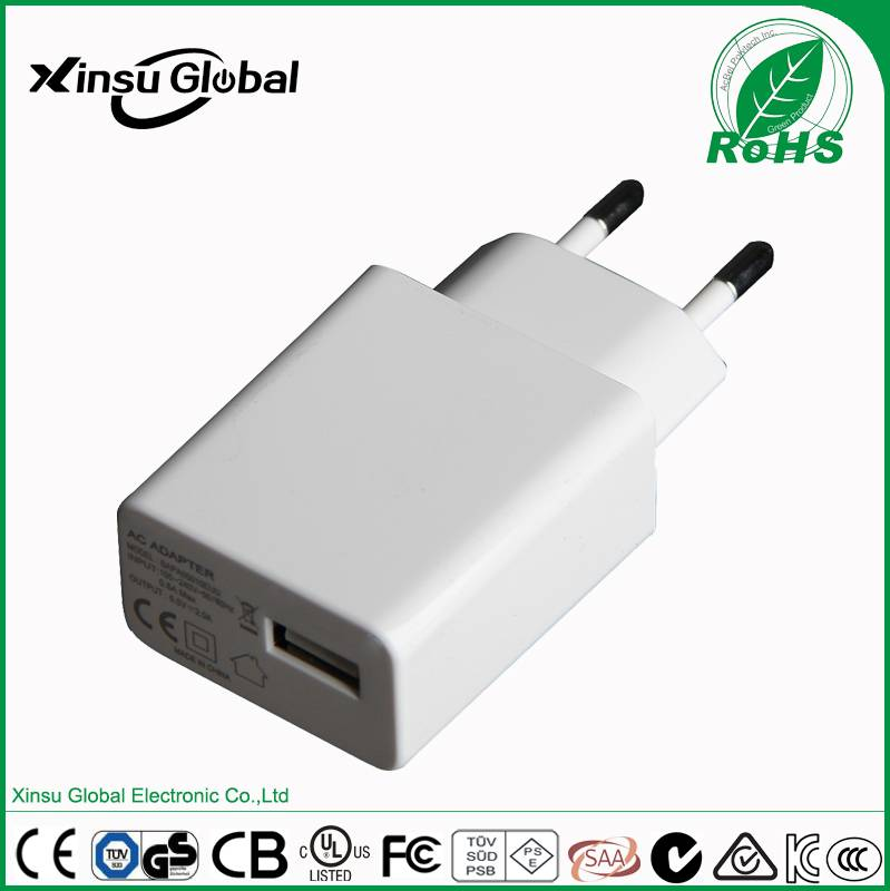 5V2A AC/DC power adapter with UL PSE CE RCM CCC