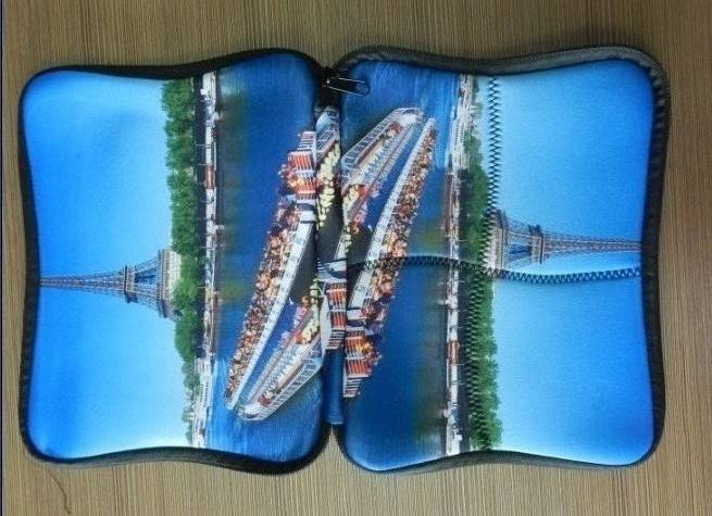 themal print color laptop sleeve