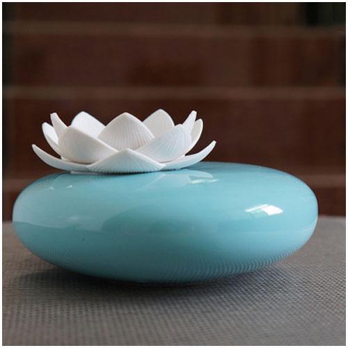 lotus flower ceramic aroma humidifier