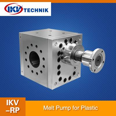 Effect of the melt pump used in plastic industry