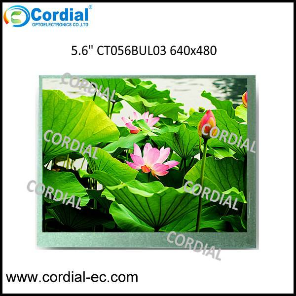 5.6 inch 640x480 TFT LCD MODULE CT056BUL03, optional with resistive touchscreen