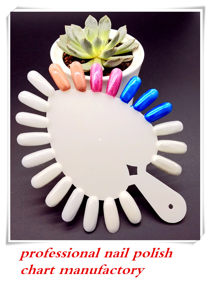 RISESUN nail polish chart 20 Tips nail color display