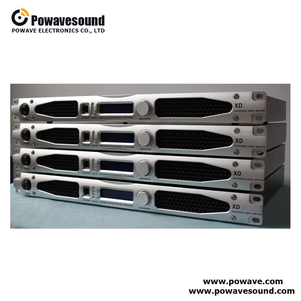 XD series 1 U digital power amplifier DSP control class D amplifier