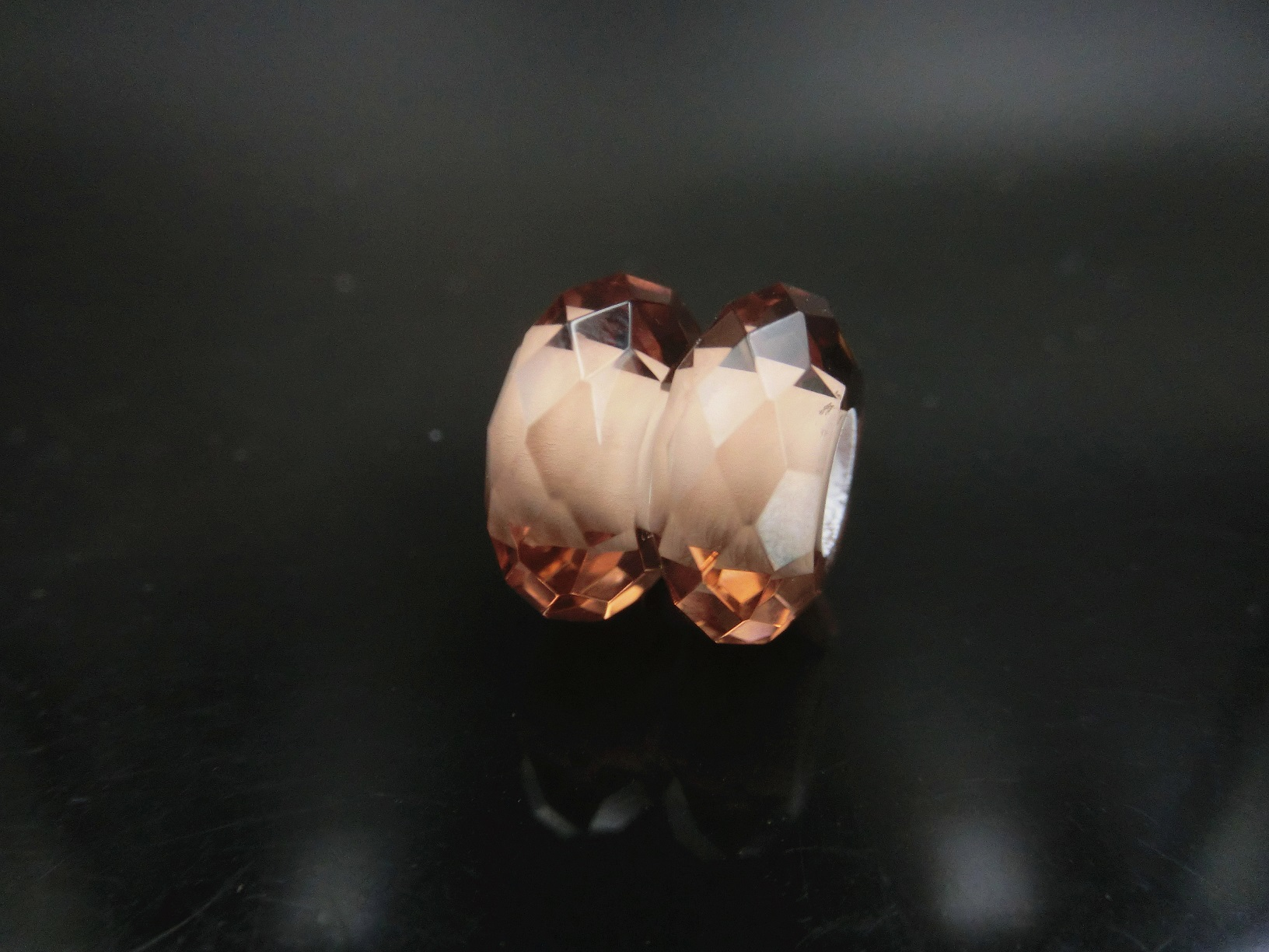 Murano Glass beads with Faceted Surfaces with Large hole size