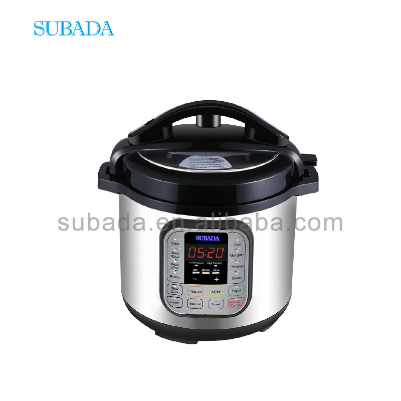 Pressure Cooker with Multi Function Instant Cooking Fast 6 QT