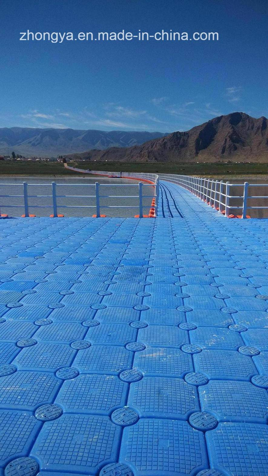 Plastic Pontoon Floating Bridge for Landscape Viewing